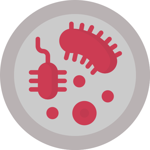 icon of bacteria in a petri dish